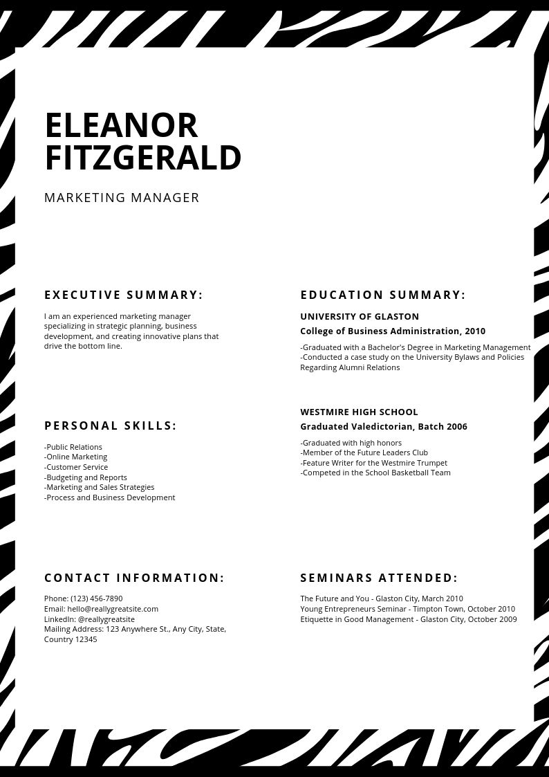 Resume Template4a
